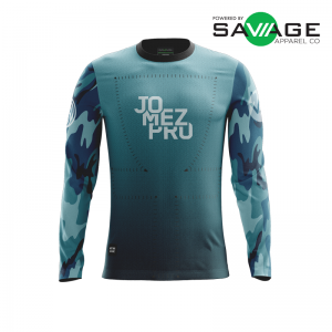 Male Aqua Gun Show Long Sleeve Jersey - Front