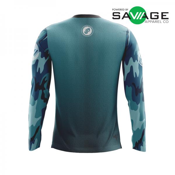 Male Aqua Gun Show Long Sleeve Jersey - Back