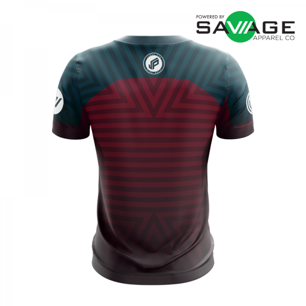 Male - Course Stripes Jersey (Red) - Back