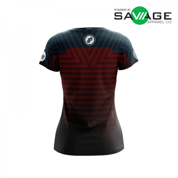 Female - Course Stripes Jersey (Red) - Back