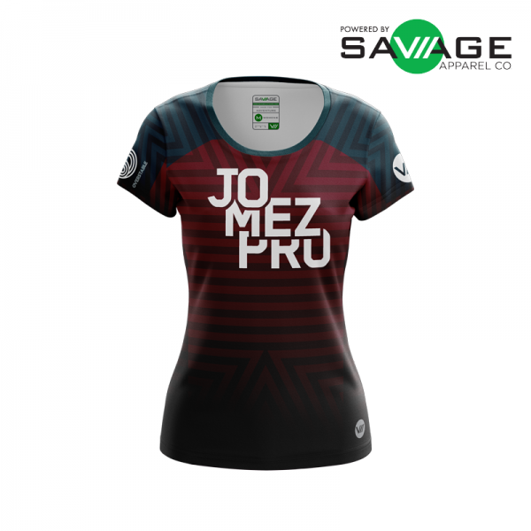 Female - Course Stripes Jersey (Red) - Front