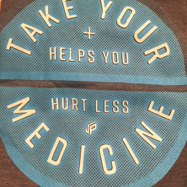 Take Your Medicine Disc Golf Shirt Decal