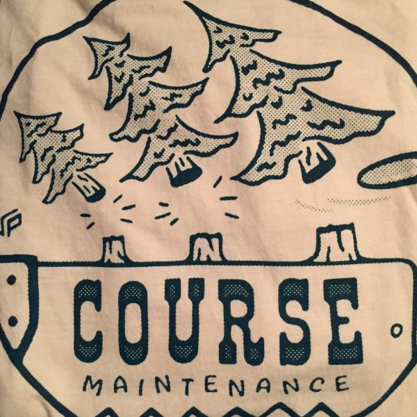Maintenance Disc Golf Shirt Decal
