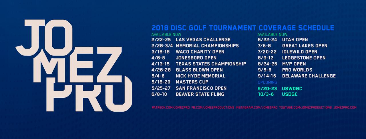 JomezPro Tour Schedule in 2018