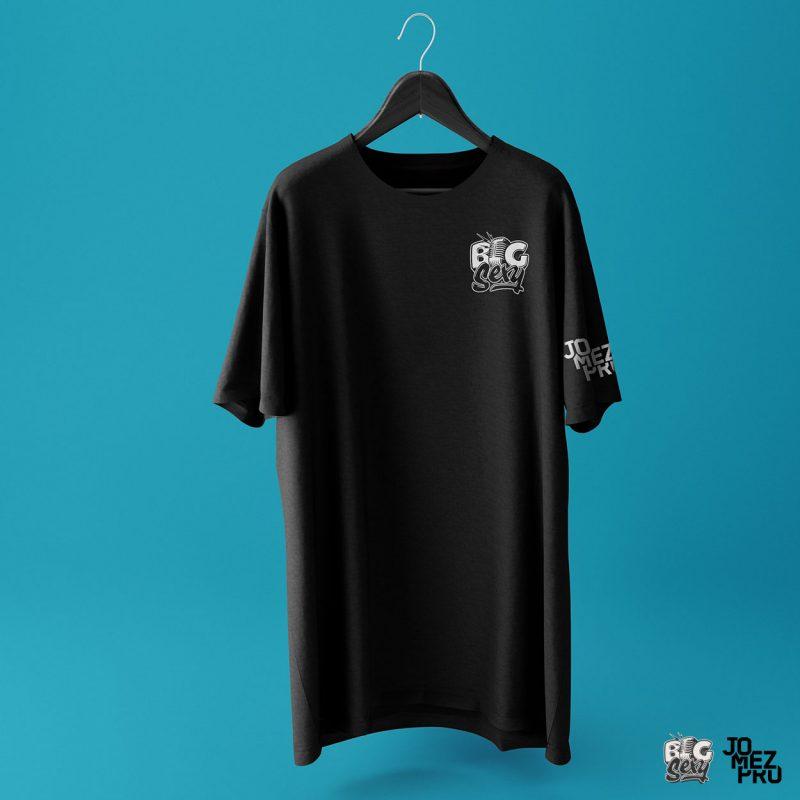 BigSexy Black Disc Golf Shirt Front