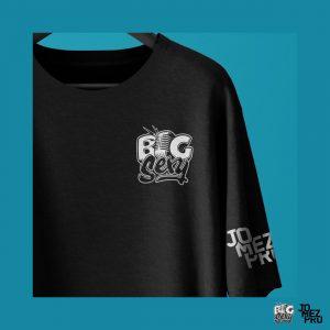 BigSexy Black Disc Golf Shirt Decal