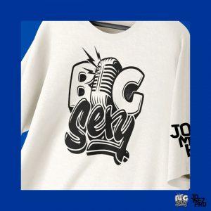 BigSexy Cream Disc Golf Shirt Decal