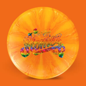 SloMez Dynamic Discs Prime Burst eMac Truth Orange Rainbow Stamp