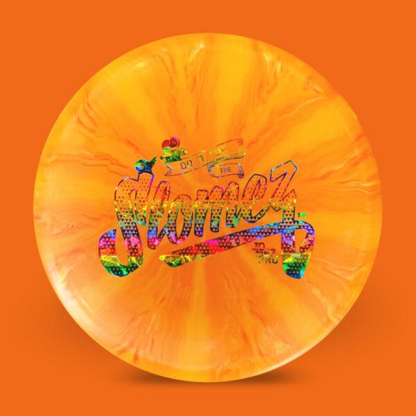 SloMez Dynamic Discs Prime Burst eMac Truth Orange Rainbow Stamp