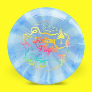 FollowFlight Dynamic Discs Fuzion Burst Raider Blue